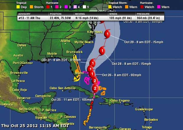 projected hurricane path Follow the path of the storm across the northeast.
